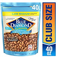 Deals on Blue Diamond Almonds, Low Sodium Lightly Salted 40 Oz.