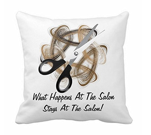 Salon Pillow (Stays At Salon Throw Pillow Cover 18 x 18