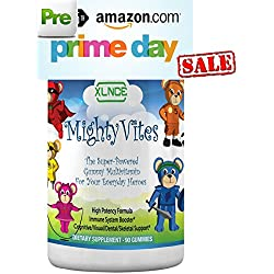 MIGHTY VITES - Children Gummy Multivitamins: Rich in Kid Vitamins A & Vitamin D. Premium Potency, Vegetarian Pectin, Made in the USA Immune Booster for Toddlers, Kids & Teens