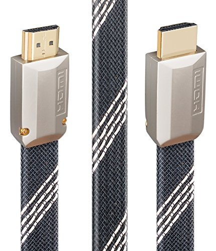 4K HDMI Cable/HDMI Cord 15ft - Ready HDMI 2.0(4K@60Hz 4:4:4) - High Speed 4K,3D,2160P,1080P - 28AWG Braided Cable - Ethernet/CEC/ARC/HDCP 2.2/CL3 for UHD TV,Blu-ray Player,Xbox,PS4/3,PC,Apple TV