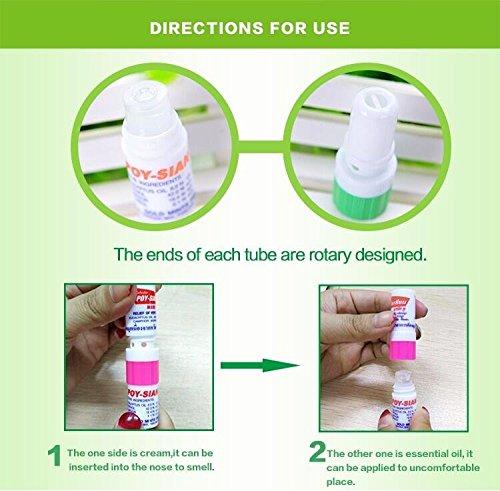 Poy Sian 2 In 1 Incense Oil Nasal Inhaler 6 Pack Great
