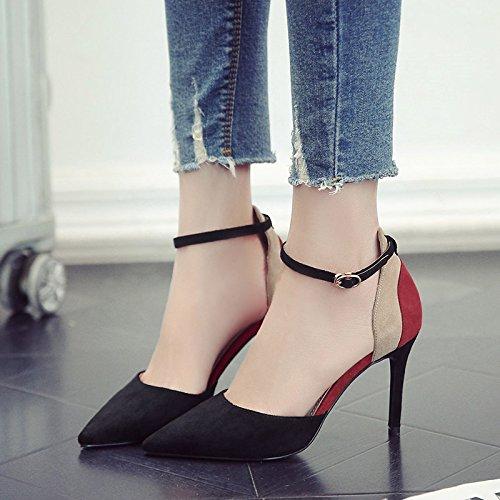 GAOLIM El Muelle De Alta Heel Shoes Singles Femeninos Zapatos Bien Con Una Punta Estrecha Para Zapatos De Mujer Negro