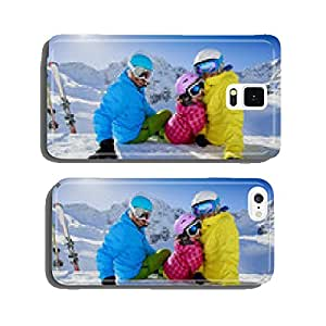 Skiing, winter, snow - family enjoying winter vacation cell phone cover case iPhone5