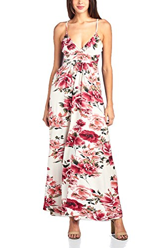 Beachcoco Women's Sweetheart Maxi Dress (XL, Multi 01 (Creme Sweet)