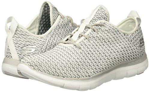 Blanc Femme Formateurs bold Skechers Move Flex 2 Appeal gris 0 BnC16q
