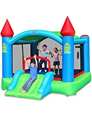 Action Air Bounce House, Inflatable Bounce House with Blower, Kids Bouncy House with Extra Large Jumping Area and Removable Canopy, Bouncy Castle for Kids Outdoor, Ideal for Kids (9445)