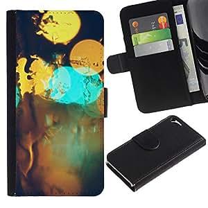 All Phone Most Case / Oferta Especial Cáscara Funda de cuero Monedero Cubierta de proteccion Caso / Wallet Case for Apple Iphone 5 / 5S // Abstract Bokeh