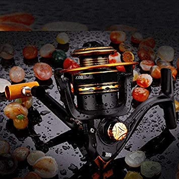 Cabeza de metal Spinning Wheel, Pesca Pesca Pesca rueda, rueda, rueda, rueda y rueda para caña de pescar, Pesca Spinning Wheel,Seis mil: Amazon.es: Bricolaje y herramientas