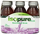 grape isopure - Isopure Plus Nutritional Drink Grape Frost, 8-Ounces, 6-Count (Pack of 4)
