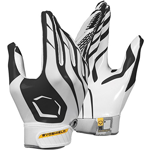 Evoshield Evoflash Football Receiver Gloves Black White Xl