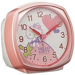 Hello Kitty Bell Type Alarm Clock Pink by Rhythm Clock