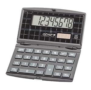 Genie 200 - Calculadora plegable con pantalla de 8 dígitos, color negro