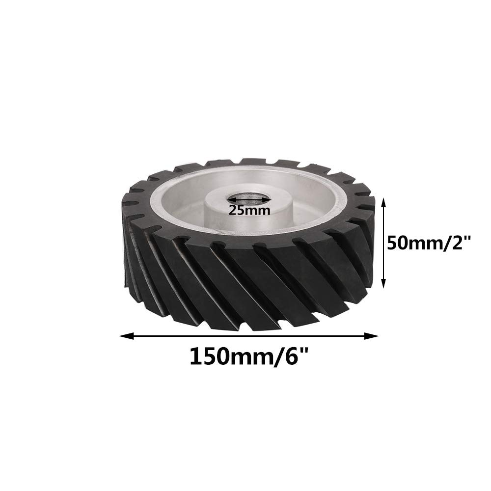10x2 Serrated Rubber Belt Grinder Contact Wheel Rubber Wheel ...