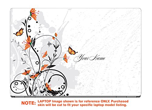 """decalrus - Protective Decal for The HP Pavilion X360 14M-CD0001DX (14"""" Screen) Laptop with Customized Name HPpavillion14m_CD0001dx-Name19"""