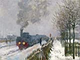 zebra snow brush - 'Train In The Snow, The Locomotive, 1875 By Claude Monet' Oil Painting, 24x32 Inch / 61x81 Cm ,printed On Perfect Effect Canvas ,this High Resolution Art Decorative Prints On Canvas Is Perfectly Suitalbe For Basement Artwork And Home Artwork And Gifts