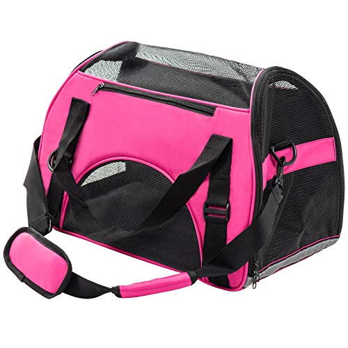Display4top Pets Travel Carrier Comfort Expandable Foldable Travel Bag for Dogs and Cats,Carry Your Pet with You Safely…