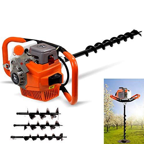 Ahoyador plantador de gasolina 3 piezas taladro de tierra (3,2 kW ...