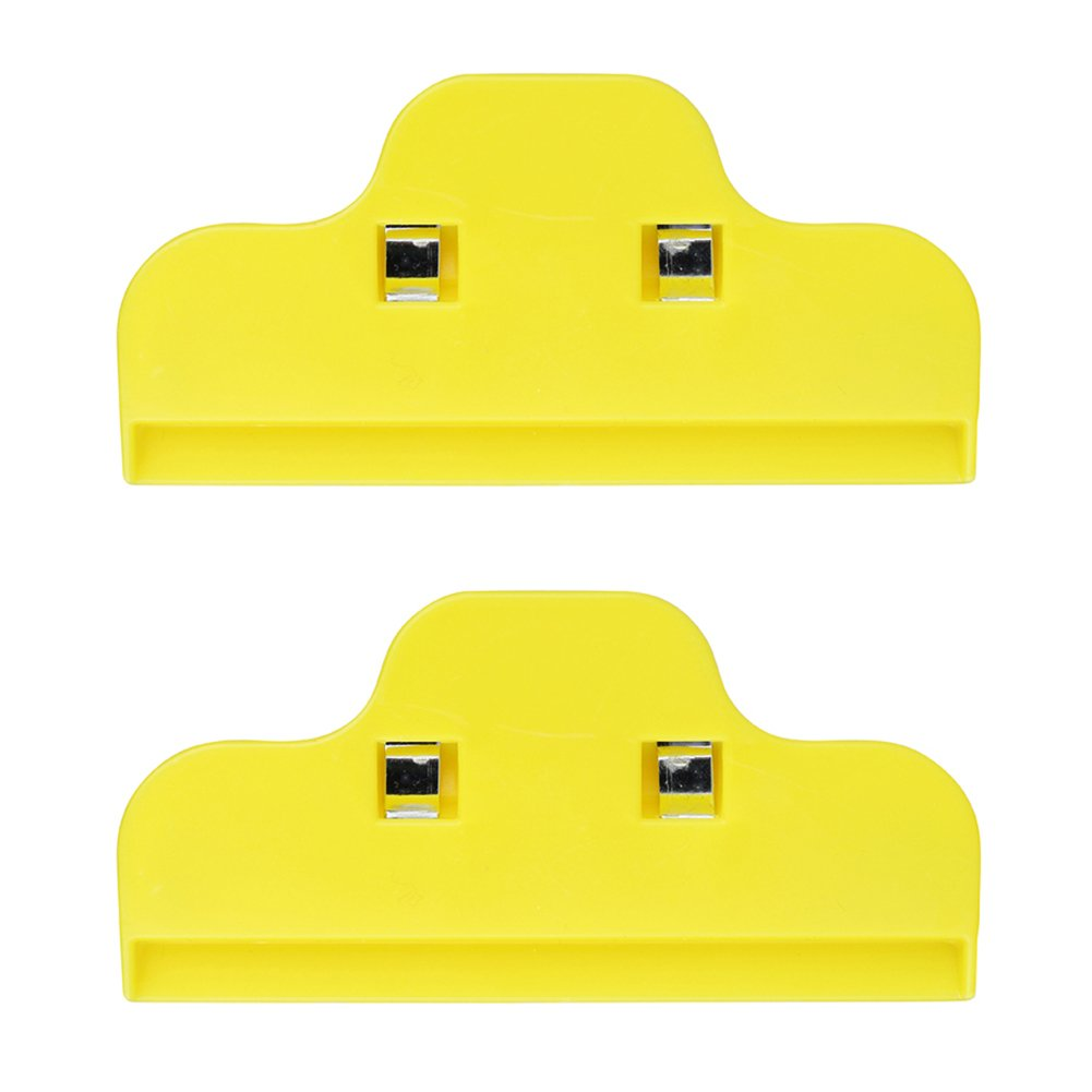 Food Bag Sealing Clip, 2PCS Non-Slip Bag Clips with Strong Spring Clamps, Large 10 Wide, Durable Large Food Bag Sealing Clips for Air Tight, Perfect for Home Office Storage(Yellow)(Yellow)