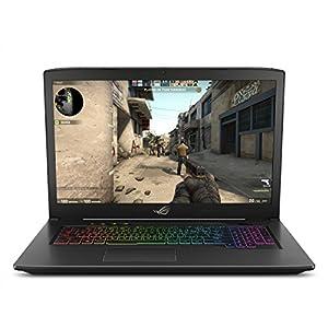 """ASUS ROG Strix Scar Edition 17.3"""" 120Hz 3ms Gaming Laptop, 8th-Gen Intel Core i7-8750H Processor (up to 3.9GHz), GTX 1050 Ti 4GB, 16GB DDR4, 128GB PCIe SSD + 1TB Hybrid HDD, Windows 10 - GL703GE-ES73"""