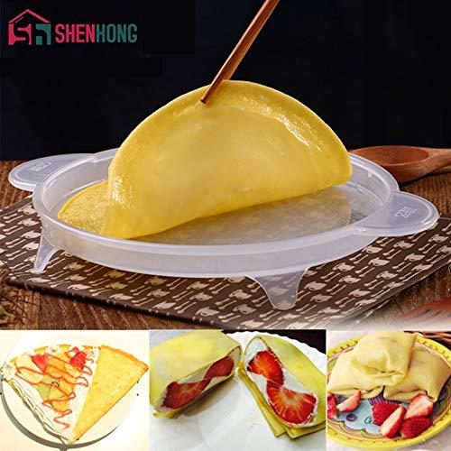 1 piece Multifunction Multilayer Cake Thin Pancake Wallet and Mango Cream Cake Pan cake Crepe Silicone Forma Pastry ()
