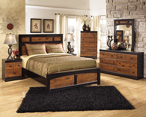 Ashley Furniture Signature Design - Aimwell Vintage Casual Panel Bedset - Full Size Bed - Dark Brown by Ashley Furniture