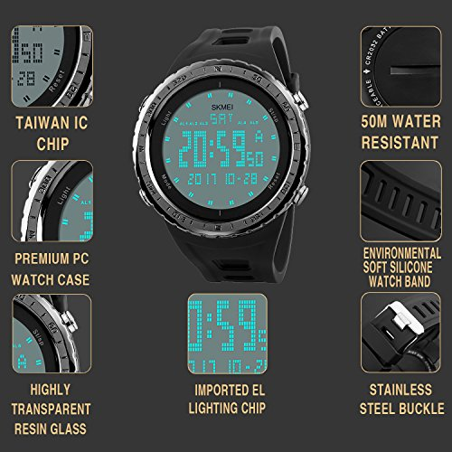 civo mens digital military sports watches big face casual. Black Bedroom Furniture Sets. Home Design Ideas