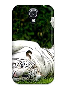 Leslie Hardy Farr's Shop New Style Durable Defender Case For Galaxy S4 Tpu Cover(white Bengal Tiger) 6732541K80326587