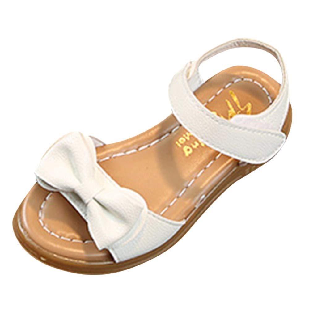 YWLINK Sandalias Ni/ñAs,Zapatillas Los Deportes Bowknot Sandalias Antideslizantes Princesa Zapatos Ocasionales Zapatos De Playa Zapatos Romanos