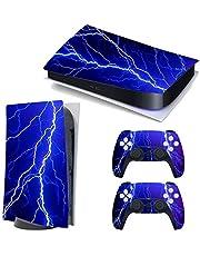 Hihouse Vinylmönster serier dekaler skinn klistermärke för PS5 Playstation 5 konsol och 2 kontroller (B, Playstation 5)