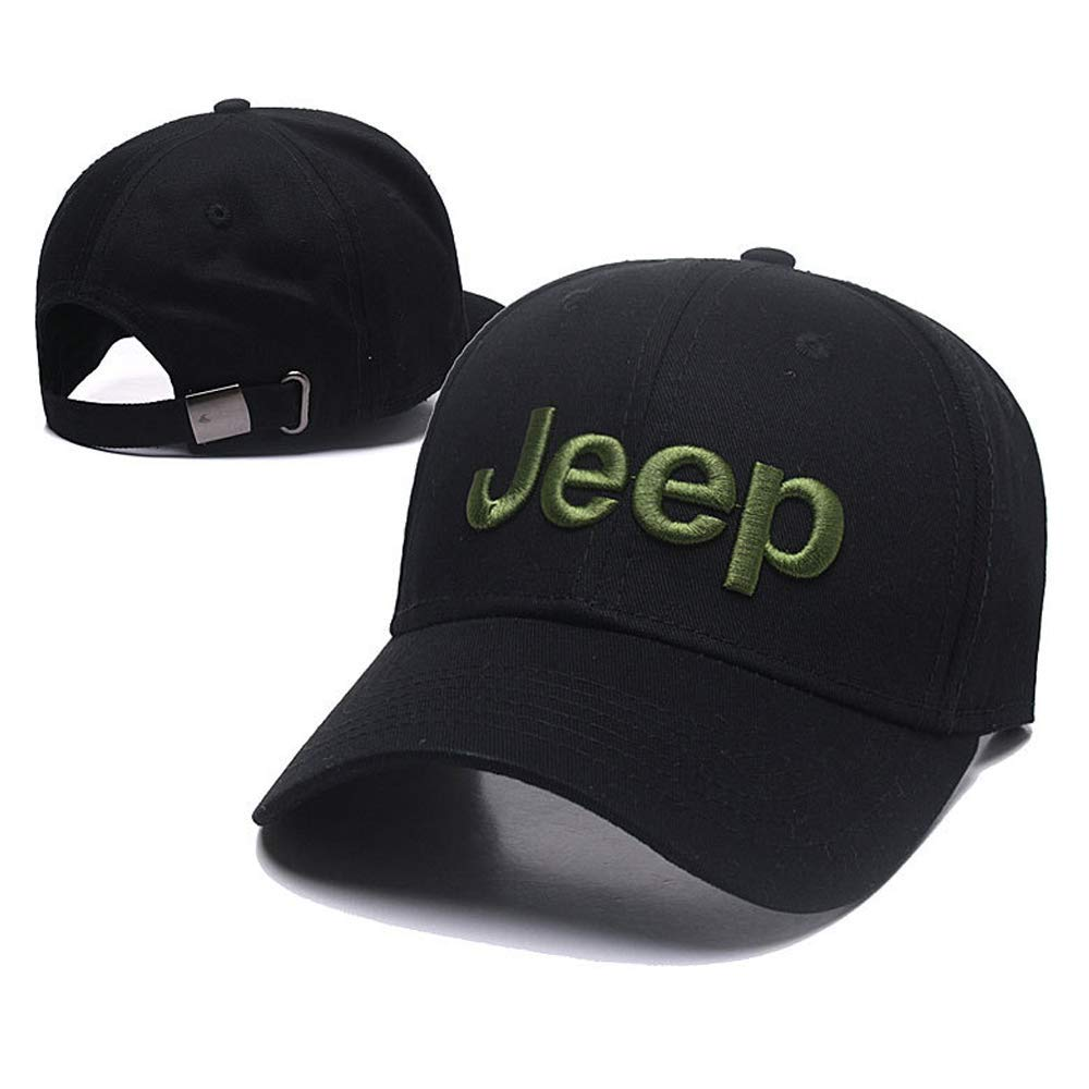Forno Car Logo Embroidered Color Adjustable Baseball Caps for Jeep,Men and Women Hat Travel Cap Car Racing Motor Hat - Black (Jeep) by Forno