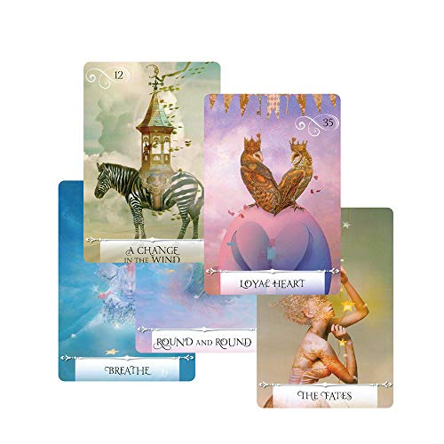 Autumn Water Newest Knowledge Oracle Cards 52 Wisdom Tarot Cards Guidance English Mysterious Fortune Card Game for Girls -