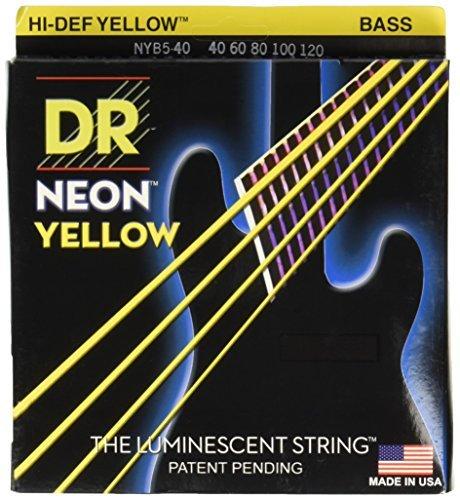 DR Strings NYB5-40 Nickel Coated Bass Guitar Strings Light [並行輸入品]   B07BS3KFL1