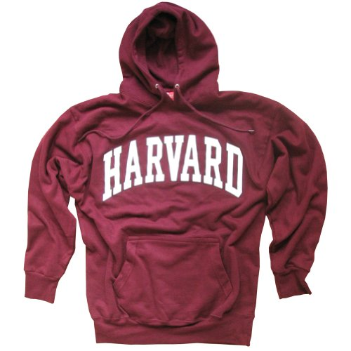 Harvard University Hoodie Sweatshirt Arched Block Maroon - XXL