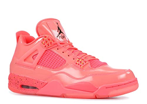 Nike Jordan Womens Retro 4 Hot Punch/Black/Volt Leather Basketball Shoes 7  M US