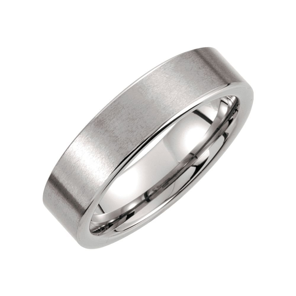 Security Jewelers Tungsten 6mm Flat Satin Band Size 11 Ring Size 11