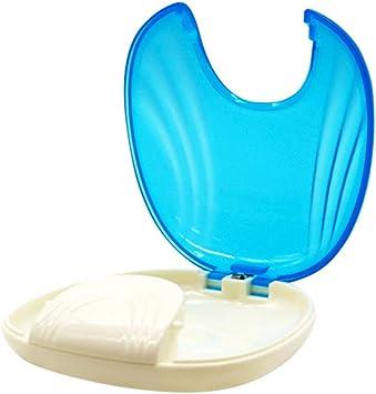 HEALLILY caja de envase de ortodoncia caja de baño de dentadura copa para retenedor de dentaduras postizas (azul claro): Amazon.es: Salud y cuidado personal
