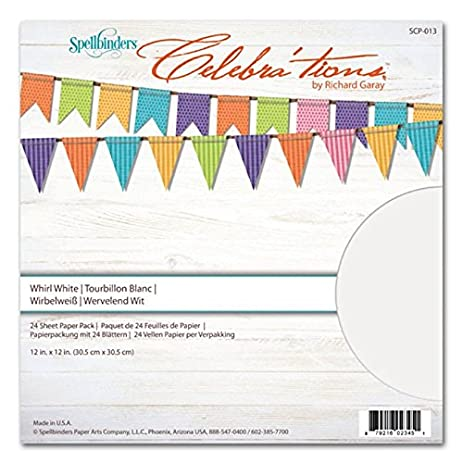 amazon com spellbinders scp 013 80 pound celebrations whirl