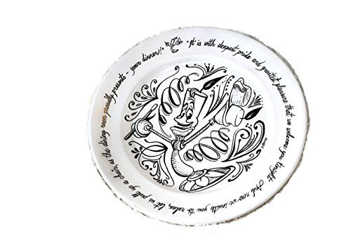 Disney Collectible Plates (Disney Store Lumiere Be Our Guest Dinner Plate)
