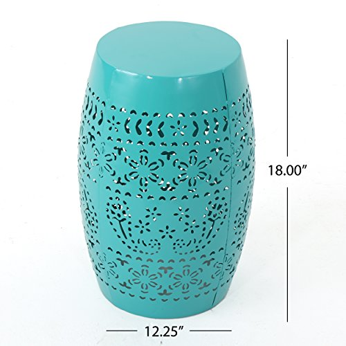 Apple Valley Lace Cut Teal Iron Accent Table by Great Deal Furniture (Image #4)