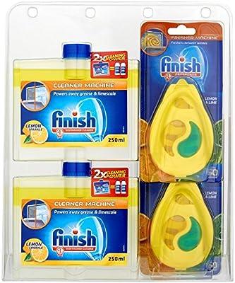 Finish Acondicionador y limpiador de lavavajillas empaque múltiple ...
