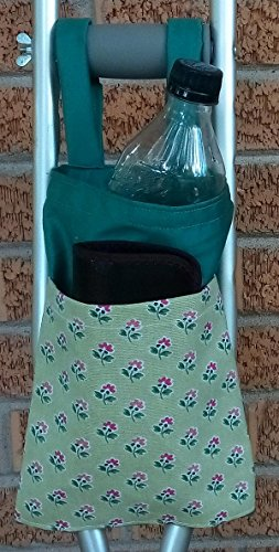 Flower Green Crutch Bag Pouch Storage from Craft and Sewing Box