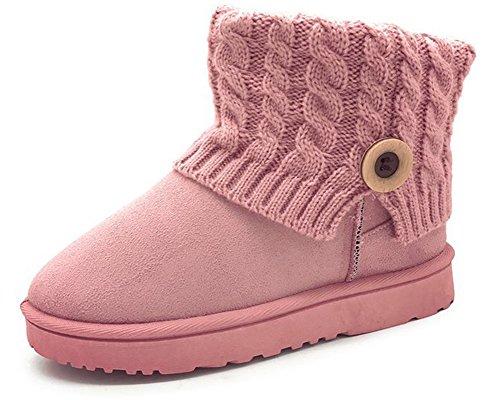 Tricot Plates Confort Rose Bottines Chaussures En Aisun Femme qPptxBqv