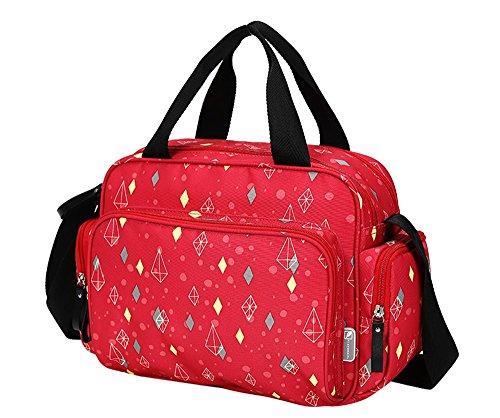 Bolso de mamá de hombro Mamá Fuera del paquete Cuidado de gran capacidad informal Bolsa para la madre y el niño Luz y más bolsillos ( Color : Purple ) Rojo