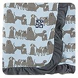 Kickee Pants Print Ruffle Stroller Blanket - London Dogs