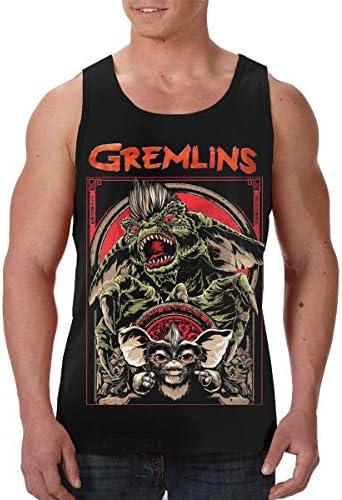 Gremlins グレムリン メンズ ボディービル タンク 袖なしク シャツ 涼しく 迅速な乾燥