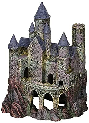 Penn Plax Wizard's Castle Aquarium Decoration Hand Painted With Realistic Details Over 10 Inches High from Penn Plax, INC.