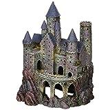 Petland Decoración para Acuario, Diseño Wizard's Castle, Talla Grande
