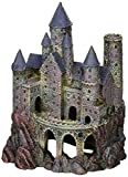 Penn Plax Wizard's Castle Aquarium Decoration Hand Painted with Realistic Details Over 10 Inches High