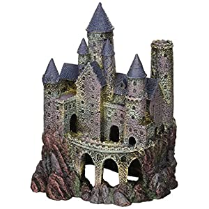 Penn Plax Wizard's Castle Aquarium Decoration Hand Painted with Realistic Details Over 10 Inches High 64