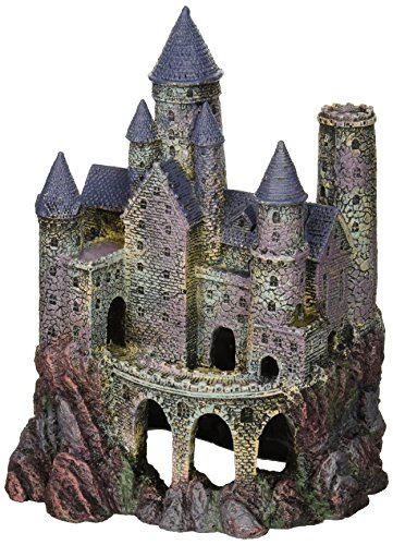 Large Castle (Penn Plax Wizard's Castle Aquarium Decoration Hand Painted With Realistic Details Over 10 Inches High)